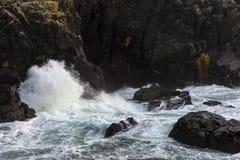 Paisaje marino de Cornualles Foto de archivo libre de regalías