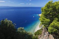 Paisaje marino de Croacia imagen de archivo