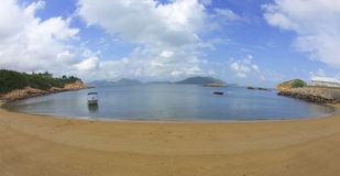 Paisaje marino de Hong Kong Imagen de archivo libre de regalías