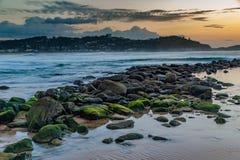 Paisaje marino de la alba Foto de archivo