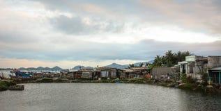 Paisaje marino de la bahía de Vinh Hy en Vietnam Imagen de archivo