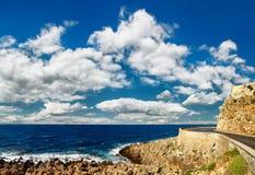 Paisaje marino de la fortaleza antigua imagen de archivo