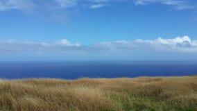 Paisaje marino de la isla de pascua Fotos de archivo libres de regalías