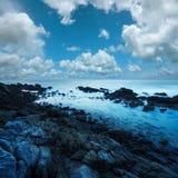Paisaje marino de la mañana Foto de archivo libre de regalías