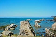 Paisaje marino de la playa del piano Foto de archivo libre de regalías