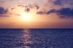 Paisaje marino de la salida del sol Fotos de archivo