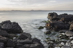 Paisaje marino de la salida del sol Foto de archivo
