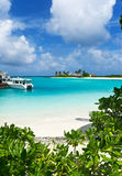 Paisaje marino de Maldives Foto de archivo libre de regalías
