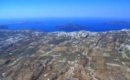 Paisaje marino de Santorini y de la caldera Imagen de archivo