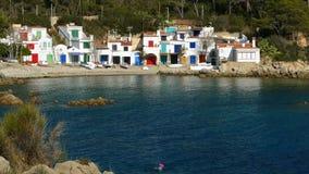 Paisaje marino del ` de Costa Brava del ` en Cataluña almacen de metraje de vídeo