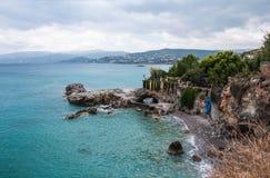 Paisaje marino del Mar Egeo en Creta Imagen de archivo libre de regalías
