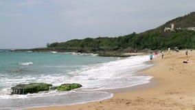 Paisaje marino del parque nacional de Taiwán Kenting HD almacen de metraje de vídeo