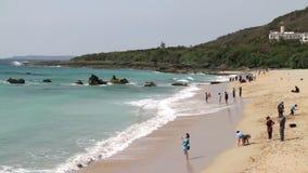 Paisaje marino del parque nacional de Taiwán Kenting HD metrajes