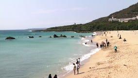 Paisaje marino del parque nacional de Taiwán Kenting HD almacen de video