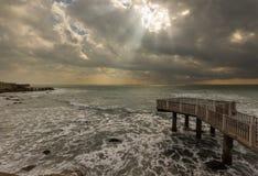 Paisaje marino del Sunray Fotos de archivo