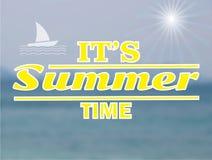 Paisaje marino del vector Fondo de la falta de definición del verano Fotografía de archivo libre de regalías