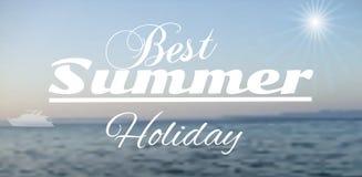 Paisaje marino del vector Fondo de la falta de definición del verano Imágenes de archivo libres de regalías