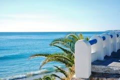 Paisaje marino delante del mar Mediterráneo Foto de archivo