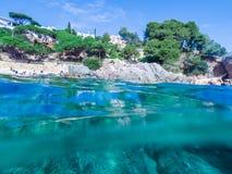 Paisaje marino en Costa Brava, Cataluña Foto de archivo