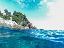 Paisaje marino en Costa Brava, Cataluña Imágenes de archivo libres de regalías