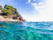 Paisaje marino en Costa Brava, Cataluña Fotos de archivo libres de regalías