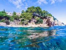 Paisaje marino en Costa Brava, Cataluña Imagen de archivo libre de regalías