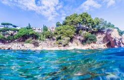 Paisaje marino en Costa Brava, Cataluña Fotografía de archivo libre de regalías
