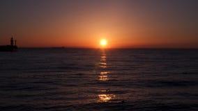 Paisaje marino en el amanecer metrajes