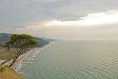 Paisaje marino en Gargano fotos de archivo libres de regalías