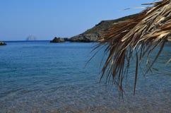 Paisaje marino en Grecia Foto de archivo