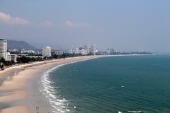 Paisaje marino en la playa de Hua Hin Fotos de archivo libres de regalías
