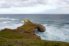 Paisaje marino en la playa del túnel Fotos de archivo libres de regalías