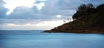 Paisaje marino en la salida del sol Imágenes de archivo libres de regalías