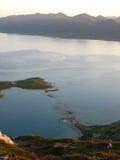 Paisaje marino en las islas de Lofoten fotos de archivo libres de regalías