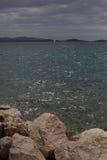 Paisaje marino espectacular en día vergonzoso Fotos de archivo libres de regalías