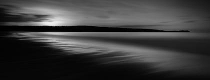 Paisaje marino etéreo, arenas de Gwithian, Cornualles foto de archivo