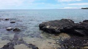 Paisaje marino grande de Hawaii de la isla Foto de archivo libre de regalías