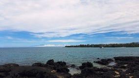 Paisaje marino grande de Hawaii de la isla Imagen de archivo