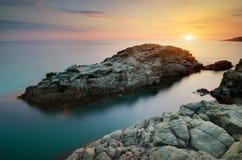 Paisaje marino hermoso Fotografía de archivo
