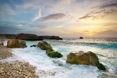 Paisaje marino hermoso Fotos de archivo