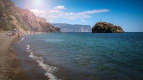 Paisaje marino hermoso del verano Imágenes de archivo libres de regalías