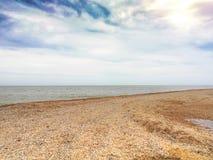 Paisaje marino hermoso en el día solar Imágenes de archivo libres de regalías