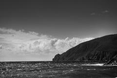Paisaje marino hermoso en un día de verano Fotos de archivo libres de regalías