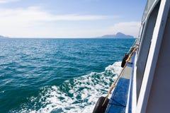Paisaje marino hermoso Tailandia no vista foto de archivo