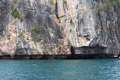 Paisaje marino hermoso Tailandia no vista fotos de archivo