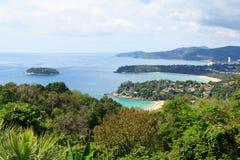 Paisaje marino. Isla de Phuket, Tailandia. Imagenes de archivo