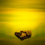 Paisaje marino minimalista. Imagenes de archivo