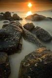 Paisaje marino minimalista Imagen de archivo libre de regalías