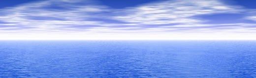 Paisaje marino panorámico Foto de archivo libre de regalías
