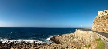 Paisaje marino panorámico fotografía de archivo